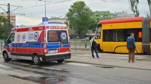 Tramwaj potrącił pieszą na przejściu