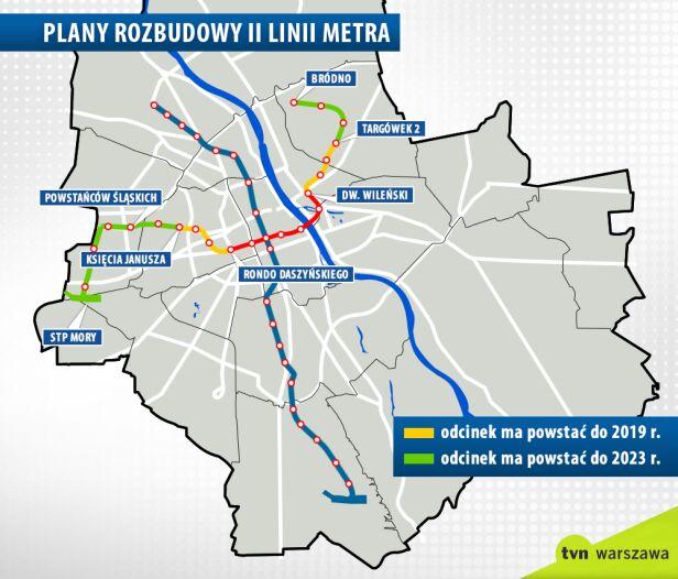 Rozbudowa drugiej linii metra tvnwarszawa.pl