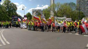 Protest śmieciarek w Warszawie