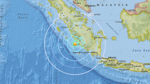 Silne trzęsienie u wybrzeża Sumatry