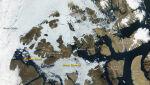 Lodowa zapora w Kanadzie - Sateliat Aqua/NASA