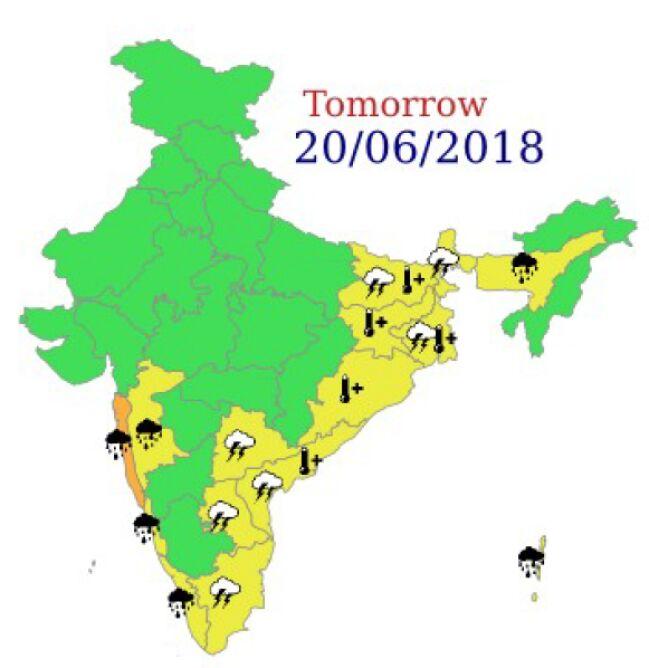 Ostrzeżenia meteorologiczne dla Indii na środę (IND)