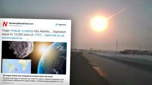 Meteor nad Atlantykiem. Przeszedłby niezauważony, choć uwolnił energię jak bomba atomowa w Hiroszimie