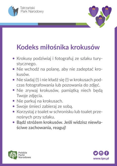 Kodeks miłośnika krokusów (za TPN)