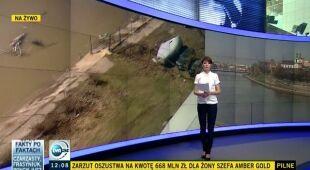 Zagrożenie powodziowe w Polsce (TVN24)