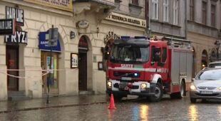 Skutki wiatru w Krakowie (TVN24)